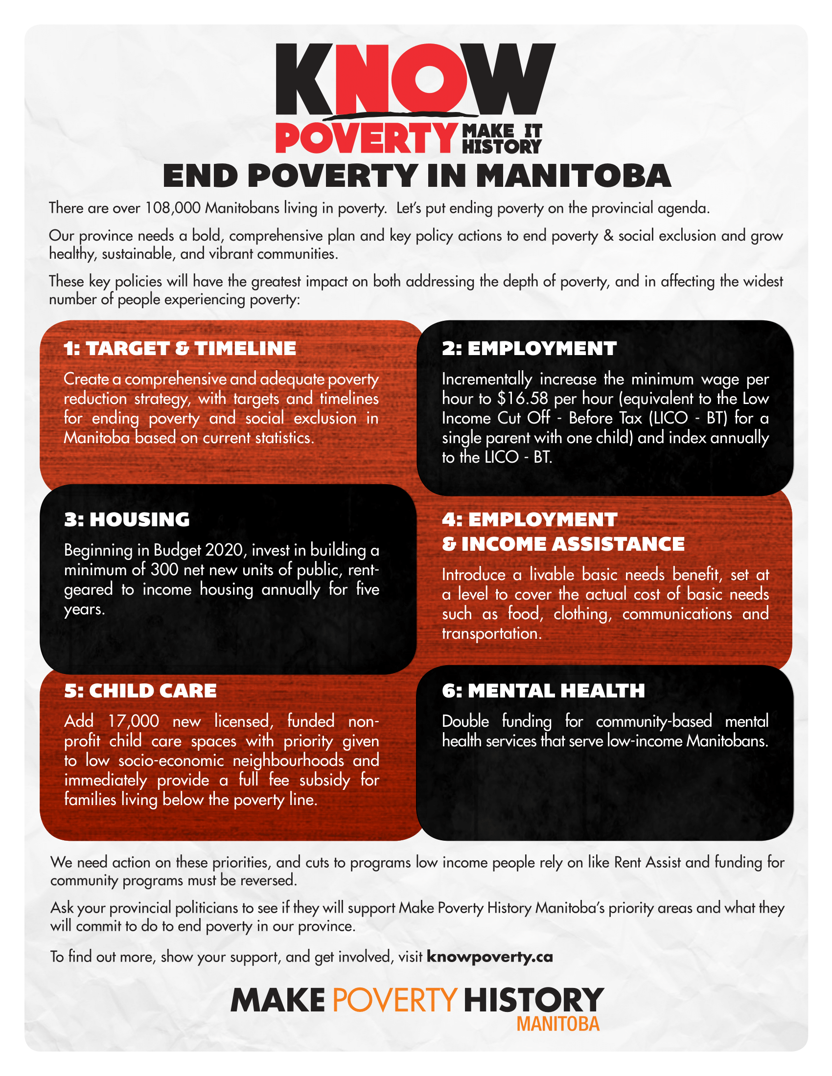 MPHM 2019 - kNOw Poverty Policy Priorities